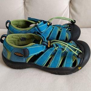 KEEN Sandal Newport H2 Kids Size 3 Blue Green